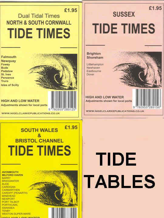 Tide tables for U.K. areas