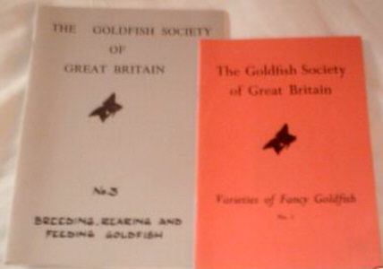 GOLDFISH SOCIETY OF GREAT BRITAIN STANDARDS HANDBOOKS