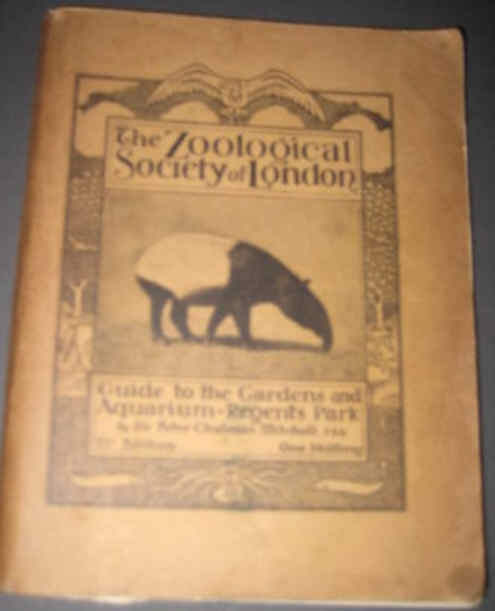 THE ZOOLOGICAL SOCIETY OF LONDON GUIDE TO THE GARDENS AND AQUARIUM, REGENTS PARK,